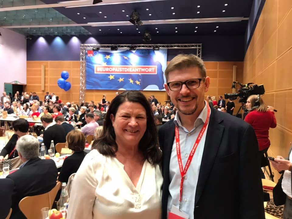 Constanze Krehl und Matthias Ecke - sächsische Kandidaten der SPD für die Europawahl 2019